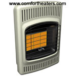 Comfort Glow plaque infrared vent free heaters and accessories